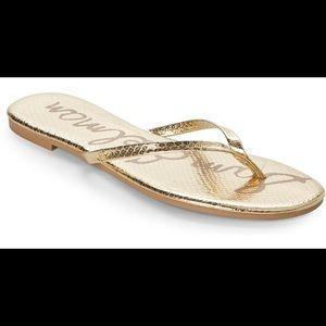 Sam Edelman Gold Sandal Flip Flops new without tag